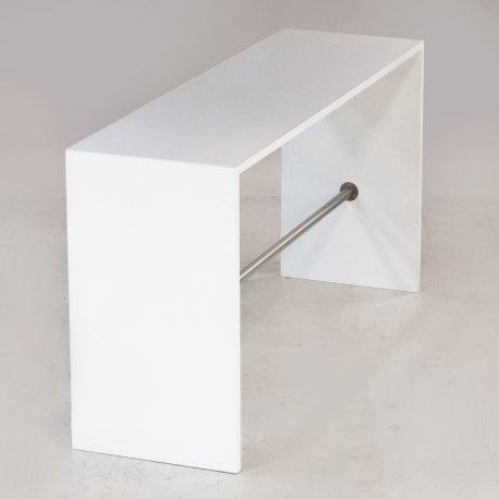 Hvidt højbord - 200x60 cm