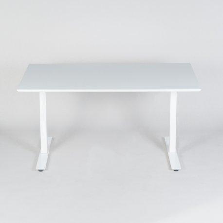 Thor hæve-/sænkebord - hvid laminat - 140x80 cm