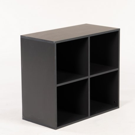 Antracit grå reol  - til væg - 72x80x40 cm