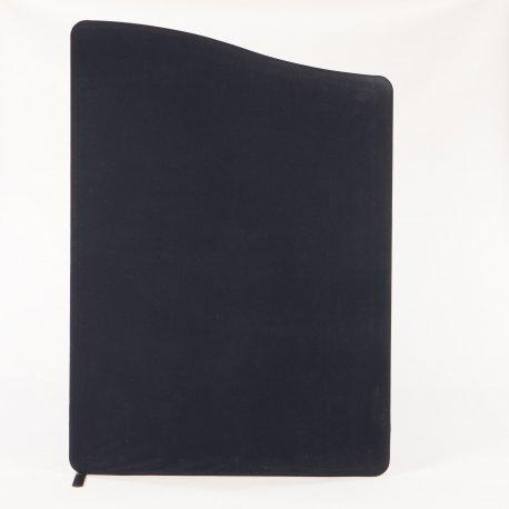 Skillevæg - sort - 170/150x120