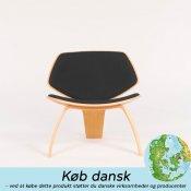 NDG01 loungestole - eg med sort stof - Udstillingsmodel