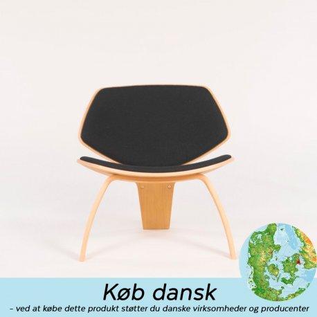 NDG01 loungestole - eg med sort læder
