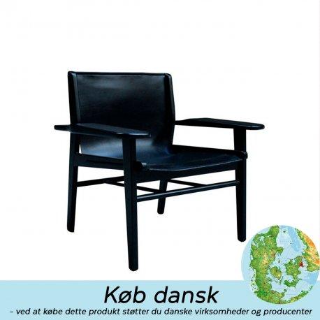 NDG02 - sort lakeret eg med sort Sørensen læder - Udstillingsmodel