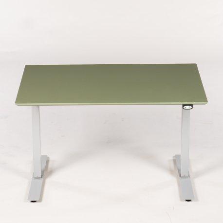 Hæve-/sænkebord - olive linoleum - 120x80 cm