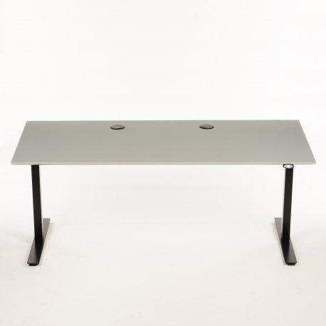 Hæve-/sænkebord - ash linoleum - 180x80 cm
