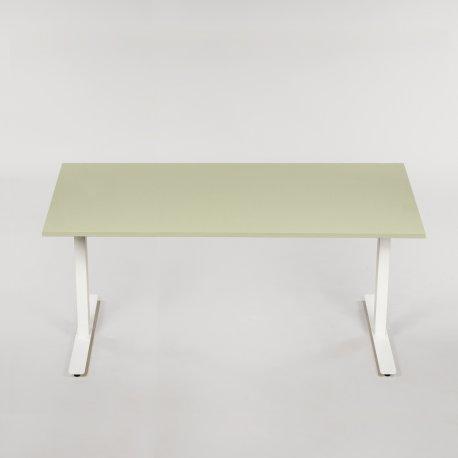 Hæve-/sænkebord - pistachio linoleum - 180x80 cm