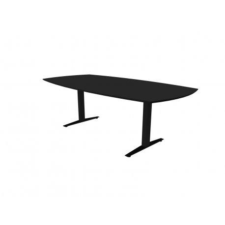 Jive mødebord - 180x110/90 cm - sort linoleum