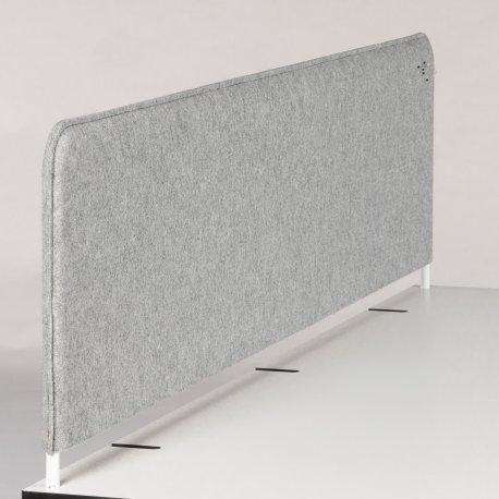 Skillevæg grå - bordmodel - 106x42x3 cm
