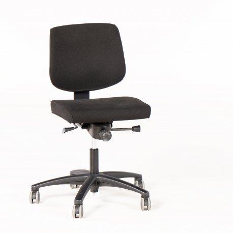 Savo kontorstol - sort stof - sort fod