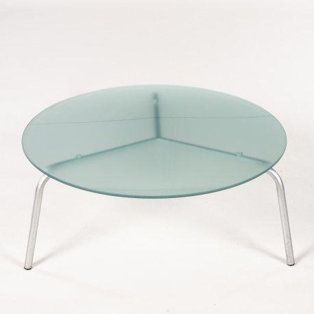 Rundt café- / loungebord glas
