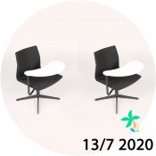 2x FourCast 2 XL loungestol - sort - Juli-kalender 13/7