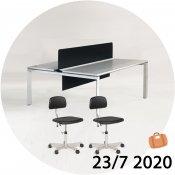 Studiebord + 2x Kevi stol - Juli-kalender 23/7