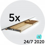 5x Bambus rekvisitskuffe - Juli-kalender 24/7