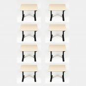 8 stk. hæve-/sænkeborde - 90x90 cm