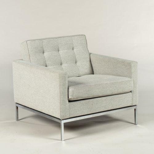 Florence Knoll loungestol - lyst dybthæftet uld