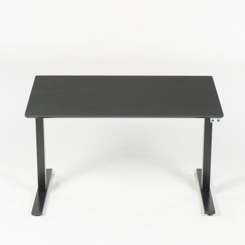 Demo hæve/sænkebord - sort linoleum - 120x80 cm. - Thor stel