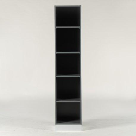 Reol - grå - 190x40x39 cm.