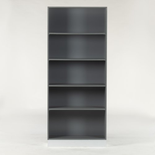 Reol - grå - 190x80x30 cm.