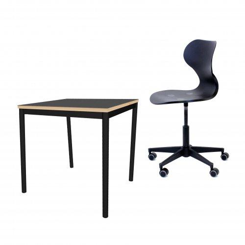 Gate Student sæt - stol og enkeltmandsbord