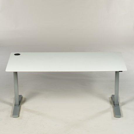 Copenhagen hæve-/ sænkebord - hvid - rektangulær - 160x80 cm.