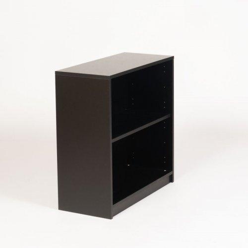 Jive reol - sort decor - 80x78x35 cm - integreret sokkel