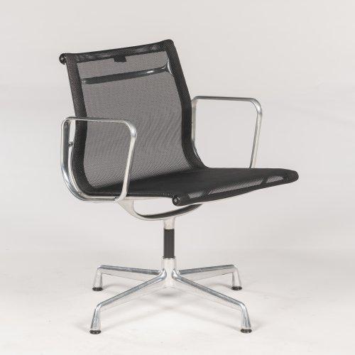 Eames Vitra EA - konferencestol med armlæn - sort mesh