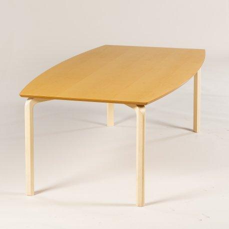 Dencon konferencebord - ahorn - bådformet - 200x110 cm.