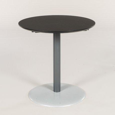 Cafébord - H. 72 - Ø 70 cm. - sort linoleum