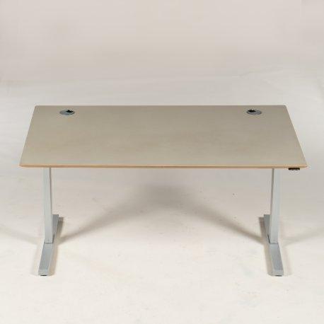 Hæve-/sænkebord - pebble linoleum - trækant - 150x90 cm.
