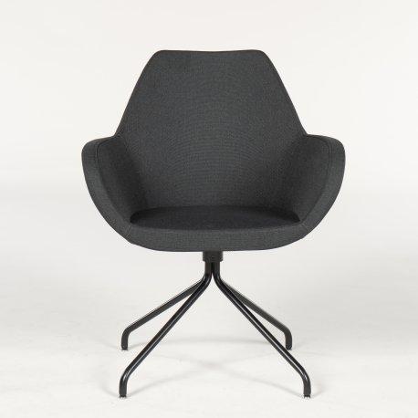 Demo loungestol - model Torso - sort polstring - sort stel - manglende siddehynde