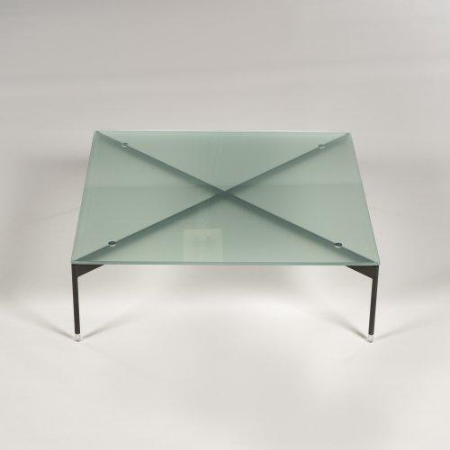 Profim - demo sofabord - kvadratisk - matteret glas - H. 25 L. 80 B. 80 cm.