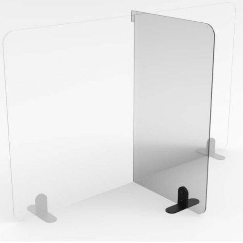 Smitteafskærmning / flytbar sideskærm - PETG plast