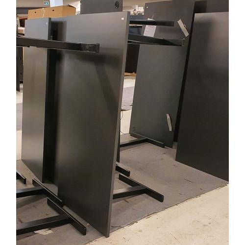 Demo hæve-/sænkebord - antracit decor - 160x80 cm - sort Ragnars stel
