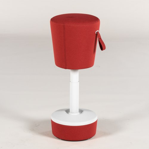 Demo puf - model O Mickey - rød polstring - højdejusterbar
