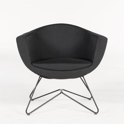 Demo loungestol - model Fellow - sort stof - sort stel