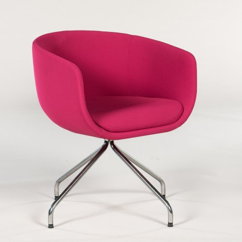 Demo loungestol - model Nu - pink - krom stel