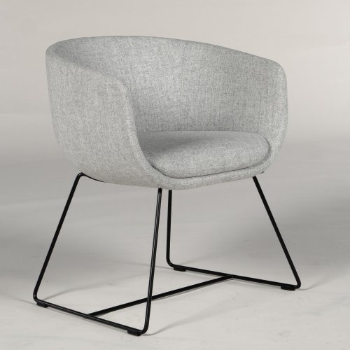 Demo loungestol - model Nu - gråt uld - sort stel