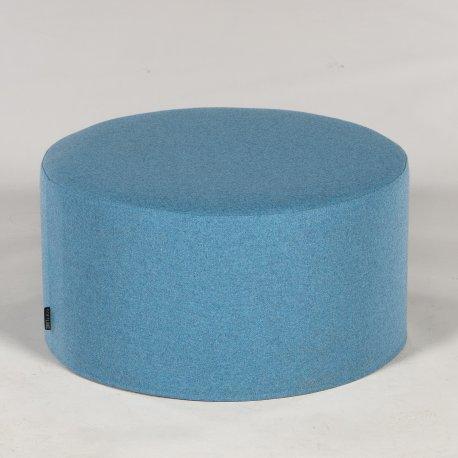 Softline puf - blå - H. 30 Ø 60 cm.
