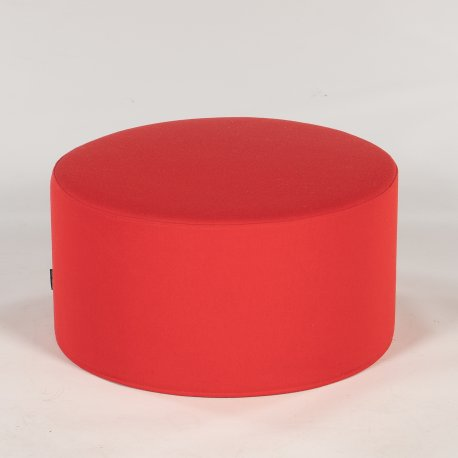 Softline puf - rød - H. 30 Ø 60 cm.