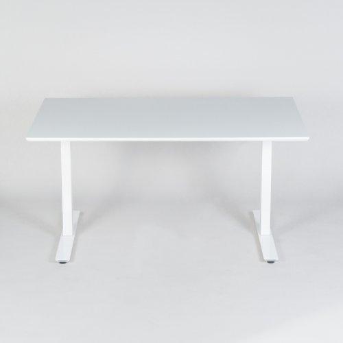 Thor hæve-/sænkebord - hvid laminat - 120x80 cm