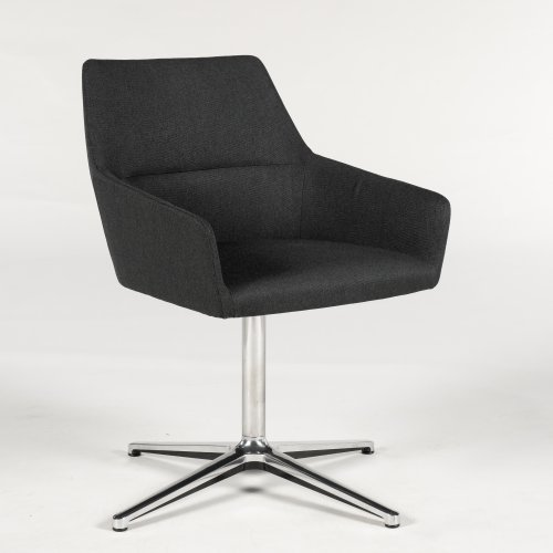 Demo loungestol - model Chic - mørkgrå polstring - krom stel