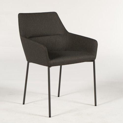 Demo loungestol - model Chic - gråbrun polstring - pulverlakeret