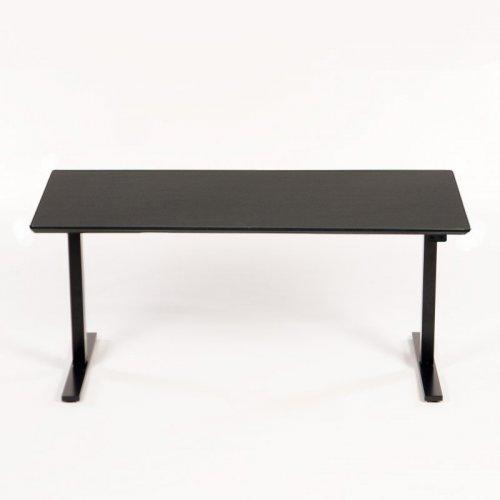 Hæve sænkebord - 160x80 cm - sort linoleum - sort stel - Thor