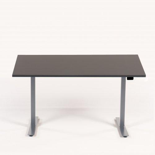 Hæve sænkebord - 140x80 - antracit grå - gråt stel - Thor