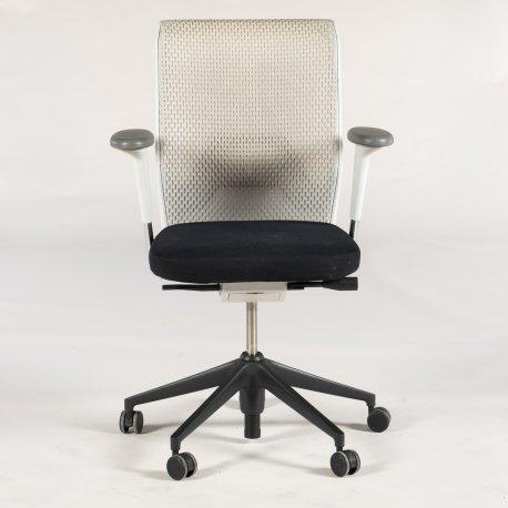Vitra ID Mesh kontorstol - gråt mesh - sort sæde - sort krydsfod