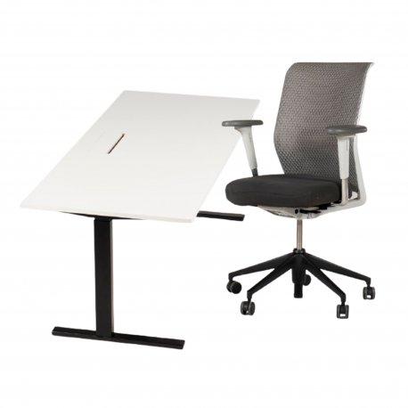 Arbejdsstation - Ragnars hæve-/sænkebord + Vitra ID mesh kontorstol
