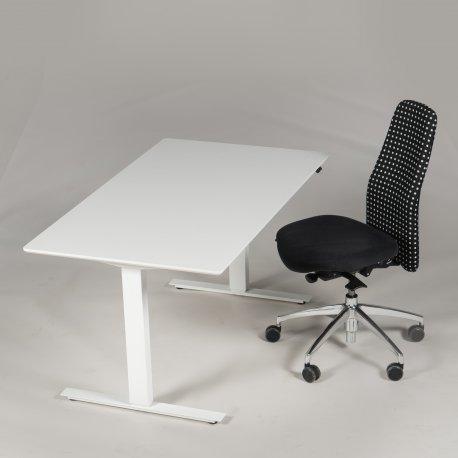 Arbejdsstation - Thor hæve-/sænkebord + Syncron kontorstol