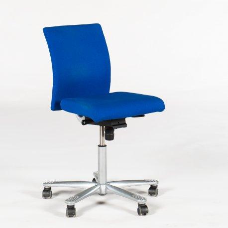 Håg H04 kontorstol - høj gaspatron - blåt stof