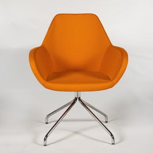 Demo - loungestol model Torso - orange - krom