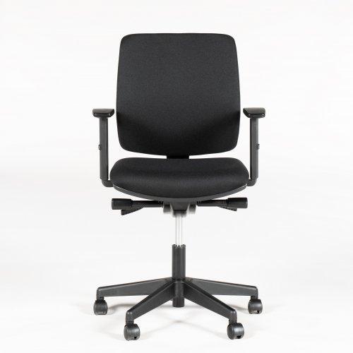 A300 Comfort kontorstol - sort Oasis polstring - sort fod